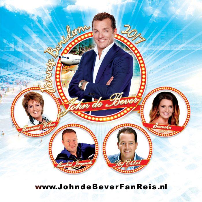 Logo Fanreis John de Bever Benidorm 2017 Met Artiesten